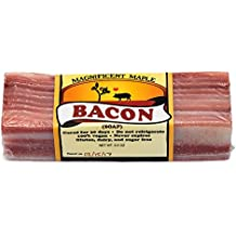 Bacon Soap: Realistic, handmade, vegan soap that looks and smells like actual bacon. All the meaty goodness of bacon without any actual meat!