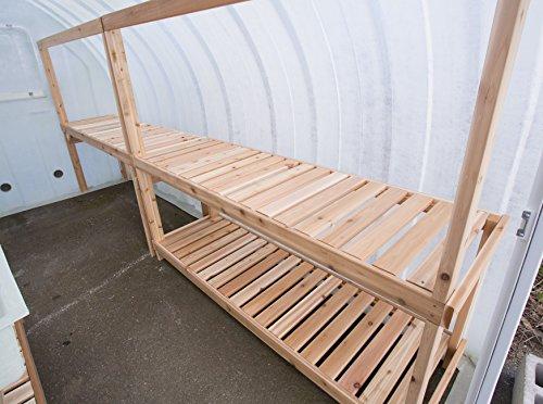 Solar Gem Greenhouse Double Work Table 86″