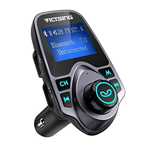 FM Transmitter, VicTsing Car MP3 Player Bluetooth FM Transmitter Handsfree...