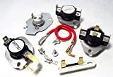 PS334299, PS11741460, PS11741405, PS11742185 Dryer Complete Thermostat and thermal fuse Kit for Whirlpool, Kenmore, KitchenAid, Roper, Maytag and more Dryers