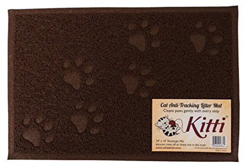 Kitti Cat Litter Anti Tracking Mats, Rectangle, Brown