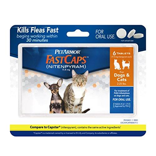 512jznWHZRL - PetArmor FastCaps (nitenpyram) Oral Flea Control Medication, 2-25 lbs, 6 count