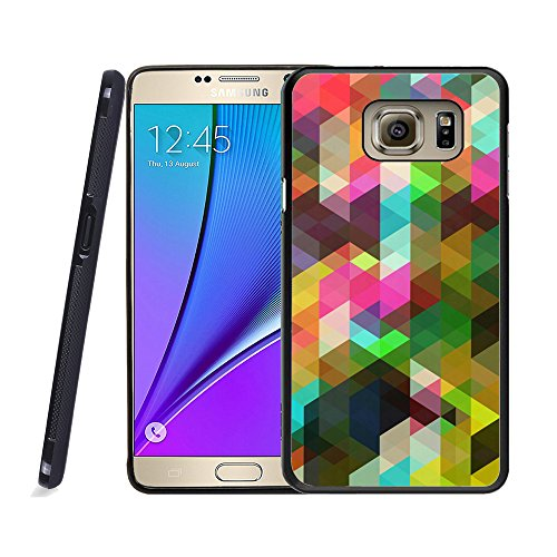 Galaxy Note 5 Case, Samsung Note 5 Black Case, Dsigo TPU Black Full Cover Protective Case for New Samsung Galaxy Note 5 - Colorful triangular (Mosaic Protective Case)