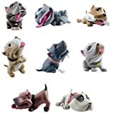 Homies Bullyz Collectible Pit Bull Figures ~ 3D Figurines Set of 8