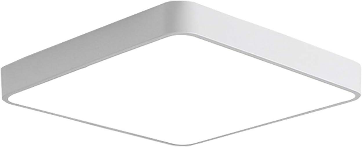 Ganeed LED Flush Mount Ceiling Light,12-Inch 24W Equivalen Ceiling Lamp Square,6500K Cool White Lighting Fixture for Living Room/Kitchen/Bedroom/Dining Room,White