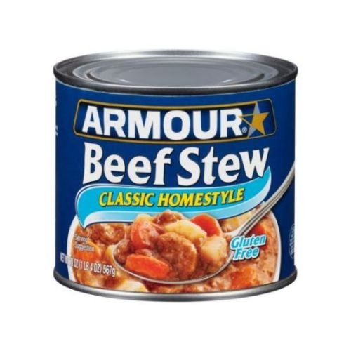 Armour Classic Homestyle Beef Stew, 20 Ounce - 12 per case.