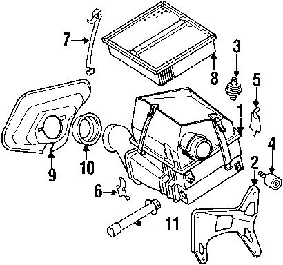 Amazon Com Mercedes Benz 602 094 04 04 Air Filter Automotive