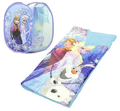 (Disney Frozen Sleeping Bag and Hamper Set)
