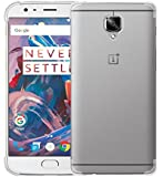 Tarkan Protective Soft Transparent Back Case Cover For OnePlus Three / One Plus 3