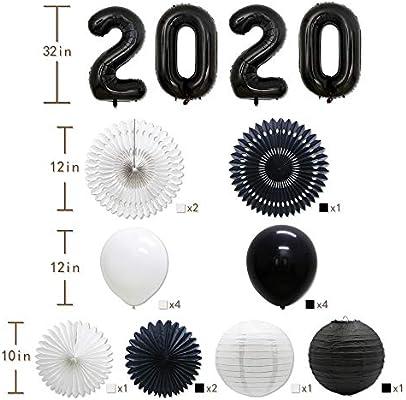 Bu Graduation 2020.Amazon Com Black 2020 New Year Eve Holiday Party Balloons