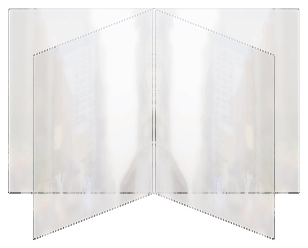 Risch 81 8.5X11  Heat sealed vinyl Menu cover quad pocket booklet, All Clear, 8.5'' x 11'' (Pack of 24)