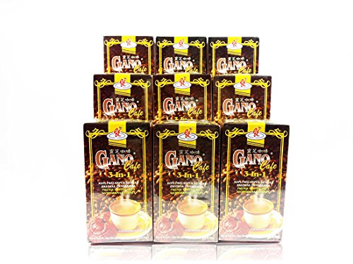 9 Box GanoCafe 3 In 1 Coffee with Ganoderma Extract (Total 180sachets)+ FREE EXPRESS SHIPPING by Gano Excel