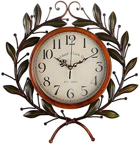 Amazon Com Olive Branch Vintage Clock Eruner European Large Decorative Wall Art Non Ticking Quartz Clock Unique For Family Living Room Arts Crafts Sewing