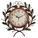 Olive Branch Vintage Clock, Eruner European Large Decorative Wall Art Non-ticking Quartz Clock Unique for Family Living Room Review
