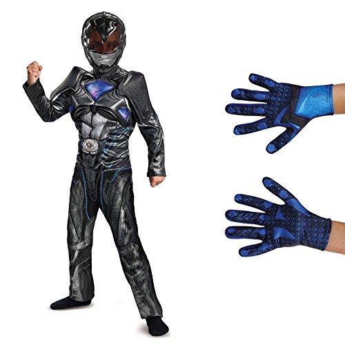 Power Rangers Movie Black Ranger Children's Classic Muscle Costume Kit ()