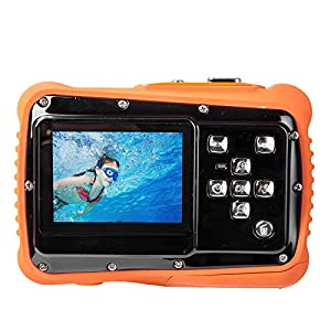 TOP-MAX Digital Camera for Kids, Waterproof Sport Action Camera Camcorder Cam with 2.0'' LCD Screen, Super HD Underwater Digital Video Camera Record Cam for Sports Swimming Diving and Beaching