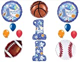 1st First Happy Birthday party balloon Sports All Star Decorations Supplies
