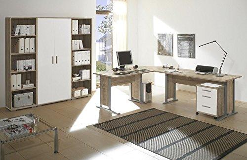Arbeitszimmer Möbel komplett Set Büro Büromöbel Office Line in Eiche ...