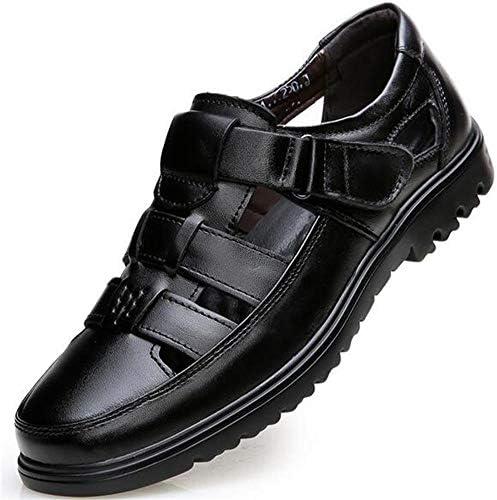 [ウイウイユ] メンズ ビジネス サンダル 紳士靴 つま先保護 職場用 コンフォート 履き心地抜群 柔らかい 滑り止め 通勤靴
