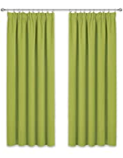 PONY DANCE Pencil Pleat Blackout Curtains with Multiple Size and Colour for Room Darkening & Thermal Insulated