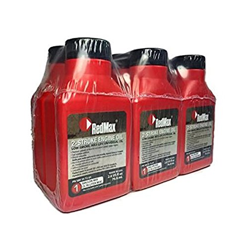 2 Cycle Oil Ratio - RedMax OEM MaxLife 2-Cycle Oil 2.6oz 6 Pack 1 Gallon Mix 580357201