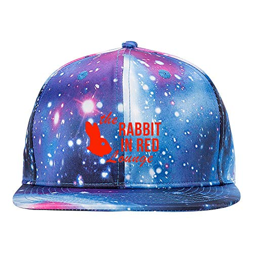 The Rabbit in Red Lounge Starry Sky 3D Printed Adjustable Baseball Caps Unisex Hip Hop Trucker Hats