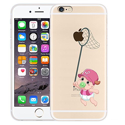 Custodia iPhone 6 Plus / iPhone 6S Plus , LH Piccolo Bambino Creativo TPU Trasparente Silicone Cristallo Morbido Case Cover Custodie per Apple iPhone 6 Plus / iPhone 6S Plus 5.5