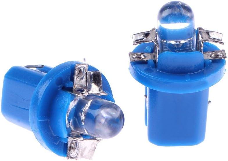 Bleu Ahomi 10/pcs T5/B8.5D 5050/SMD LED de voiture Instrument ampoules Tableau de bord