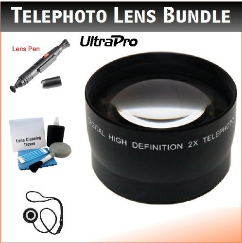 52mm Digital Pro Telephoto Lens Bundle for the Nikon D500, D5, D3000, D5500, D5200, D5100, D5000, D90, D3s D4 Digital SLRs. Includes 2x Telephoto High Definition Lens, Lens Pen Cleaner, Cap Keeper, UltraPro Deluxe Cleaning Kit