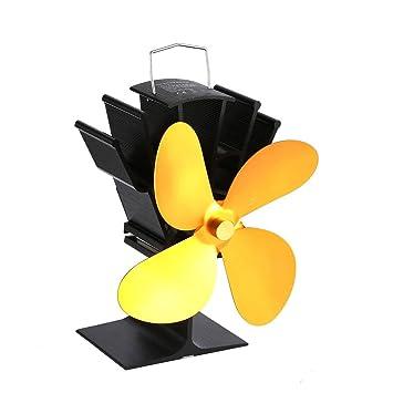 Sairis Ventilador de Chimenea de Potencia térmica Ventilador de Estufa de leña Alimentado por Calor Ventiladores