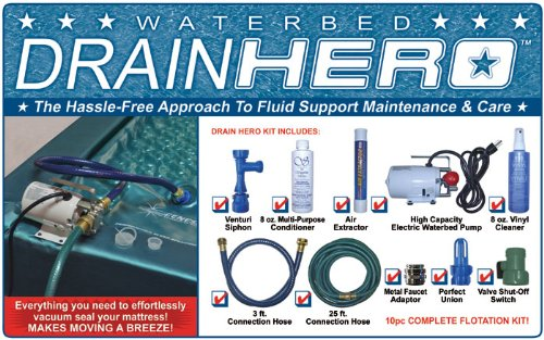 - Drain Hero Complete Drain Kit for Waterbed Flotation Mattress