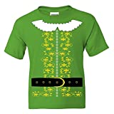 Kids Elf Costume T Shirt Santa Christmas Holiday Shirt