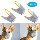 PeSandy Adjustable Dog Respirator Mask, 3 PCS