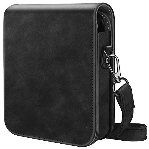 Fintie Protective Case for Polaroid POP - Premium Vegan Leather Bag Cover with Removable Strap for Polaroid POP 3x4 Instant Print Digital Camera, Vintage Black