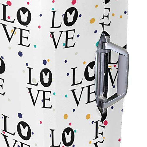Bulldog Love Travel Luggage Cover - Suitcase Protector HLive Spandex Dust Proof Covers with Zipper, Fits 18-32 inch by HLive (Image #4)