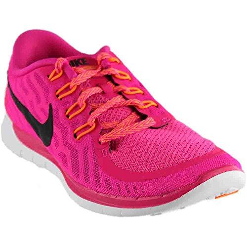 Cheap Nike Women's Free 5.0 Running Shoe Pink Foil/Pink Pow/Bright Citrus/Black 6.5
