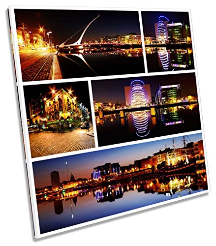 Canvas Geeks   Dublin Ireland City Collage   90Cm Wide X 90Cm High Square Canvas Wall Art Picture Print