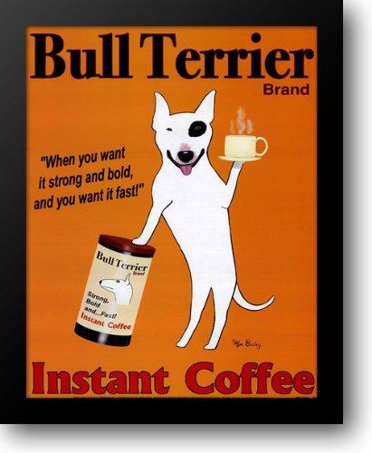 Bull Terrier Brand 15x18 Framed Art Print by Bailey, Ken (Terrier Art Bull)