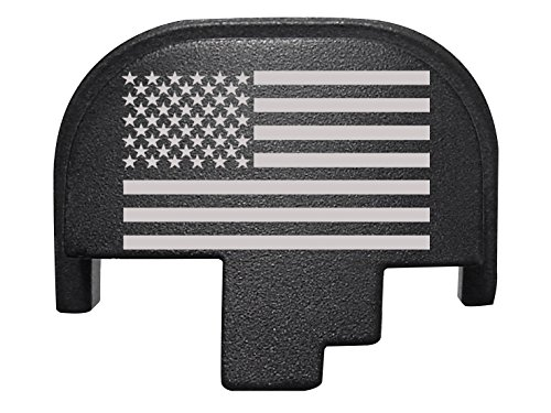 For Smith Wesson S&W M&P 9 40 45 Rear Slide Back Plate Black US Flag