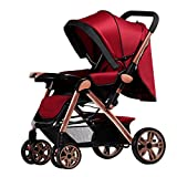 Beautylife88 #0017 Connect Stroller Travel System Lightweight Strollers Wine red