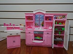 barbie size dollhouse furniture my fancy life kitchen play set amazoncom barbie size dollhouse