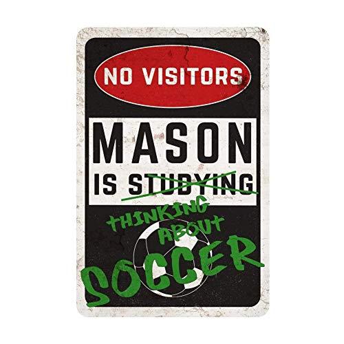 Ja242oe Cartel Personalizado para habitación de fútbol con ...