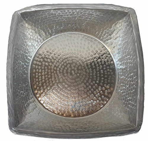 Egypt gift shops Hand Hammered Square Light Weight Silver Foot Wash Massage Spa Cleansing Bathtub Basin Beauty Salon Pedicure Relax Skin Toes Care by Egypt gift shops