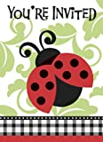 Baby Shower Lively Ladybug Invitation Cards - by Unique Party