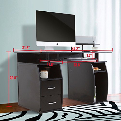 Eight24hours Computer Desk PC Table Workstation Monitor&Printer Shelf Home Office Furniture + FREE E - Book by Eight24hours (Image #1)
