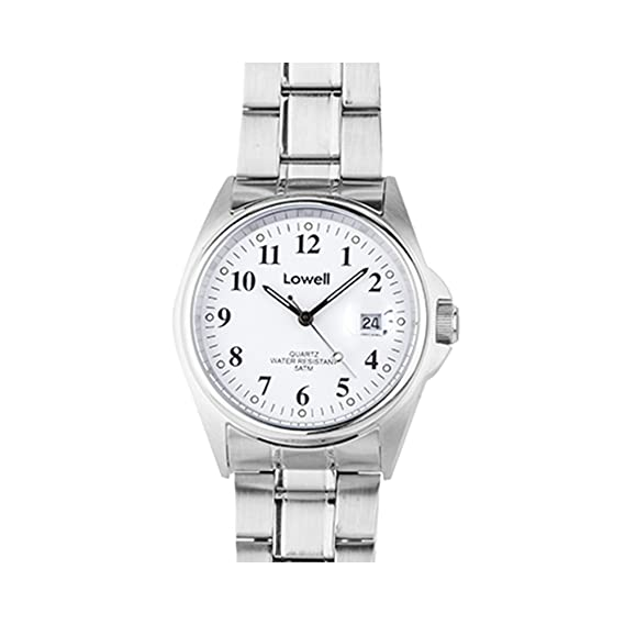 Reloj mujer acero blanco Lowell