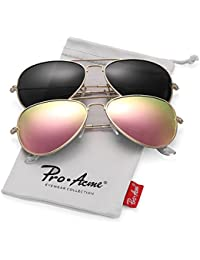 Classic Polarized Aviator Sunglasses for Men and Women...