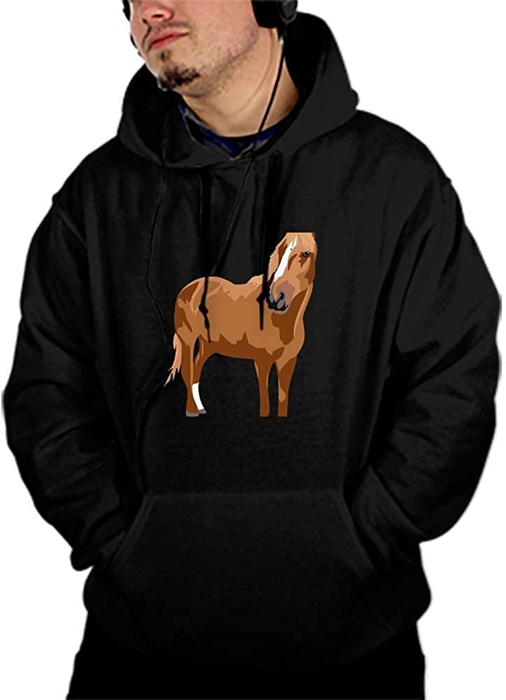 Viola North Horse Beauty Cool Men Hooded Sweashirt Graphic Jacket Sweatshirt with Pockets