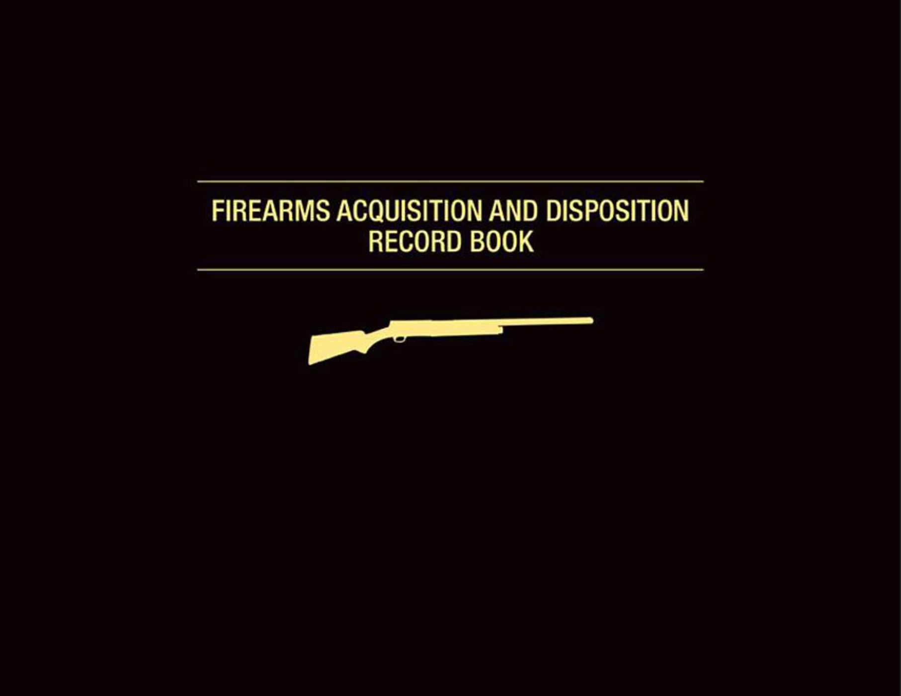 Amazon com: Firearms Acquisition and Disposition Record Book
