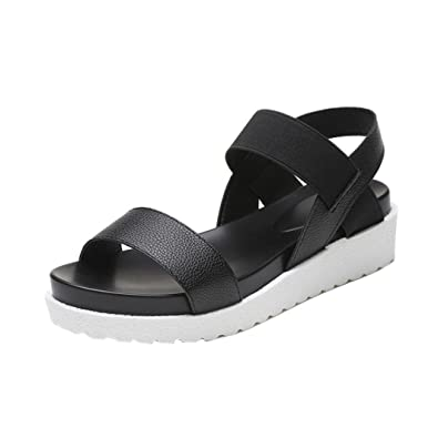 d83f42bdf Inkach Womens Fashion Summer Platform Sandals - Ladies Faux Leather Wedges Sandals  Flat Shoes (36
